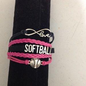 Multi layer softball bracelet